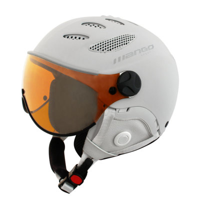 MANGO CUSNA FREE SKIHELM - WHITE MAT - ORANGE MIRROR VISIER CAT. 2 - (☁/☀/❄)