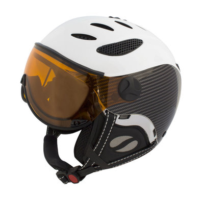 MANGO CUSNA FREE SKIHELM - BLACK CARBON - PHOTOCHROMIC ORANGE VISIER CAT. 2-3 (☁/☀/❄)