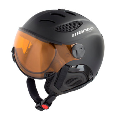 MANGO CUSNA FREE SKIHELM - BLACK - PHOTOCHROM ORANGE VISIER CAT. 2-3 (☁/☀/❄)
