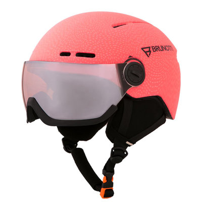 BRUNOTTI OBERON 2 SKIHELM - PUNCH PINK - ORANGE MIRROR VISIER CAT.2 - (☀/☁)