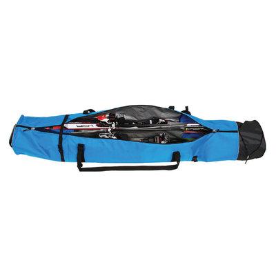 Skisack Corvara Vario Duo - blau schwarz - für 2 Paar Ski mit Stöcken
