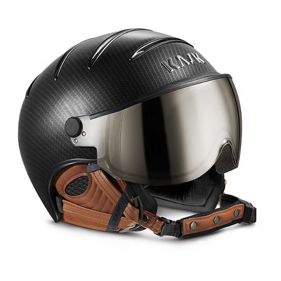 KASK ELITE PRO SKIHELME - CARBON BROWN -  VISIER CAT. 2 (☁/☀/❄)