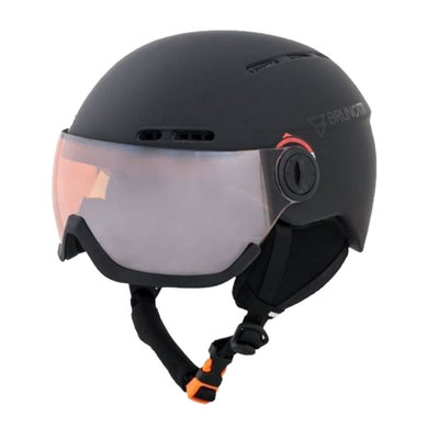 BRUNOTTI OBERON 4 SKIHELM - BLACK - ORANGE MIRROR VIZIER  CAT.2 - (☀/☁)