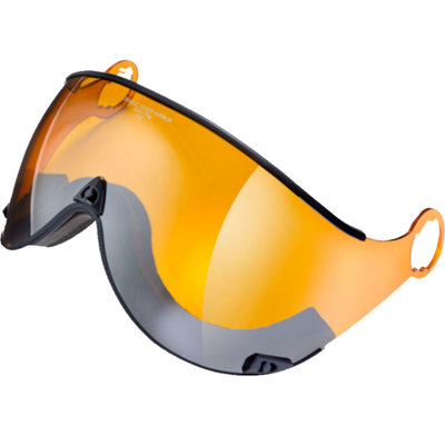 Skihelm Visier Orange Silver Mirror - cat. 2 (☁/❄/☀) - Fuer CP Curako skihelm