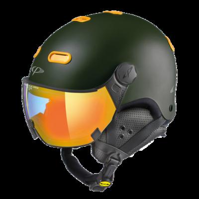 CP Helme mit Visier Carachillo - Braun - Photochrom Verspiegelt ☁/❄/☀