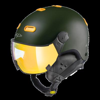 CP Helme mit Visier Carachillo - Braun - Verspiegelt ☀