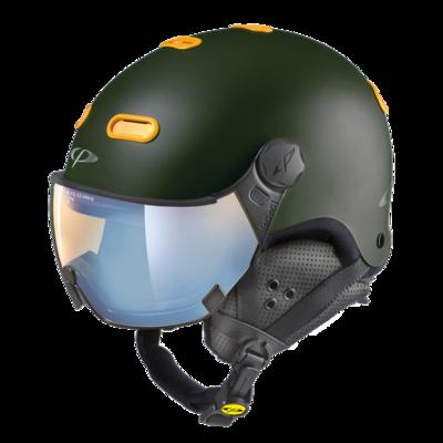 CP Helme mit Visier Carachillo - Braun - Photochrom Polarisiert Verspiegelt ☁/❄/☀