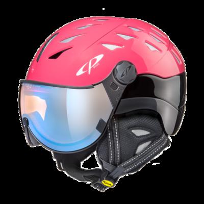 CP Helm mit Visier cuma - roze/zwart - Photochrom/Polarisiert/Verspiegelt ☁/❄/☀