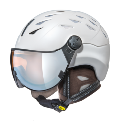 CP Helm mit Visier cuma cashmere - weiss - Photochrom/Polarisiert/Verspiegelt ❄/☁/☀