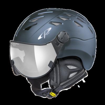 CP Helm mit Visier cuma - blau - Verspiegelt ☁/❄/☀