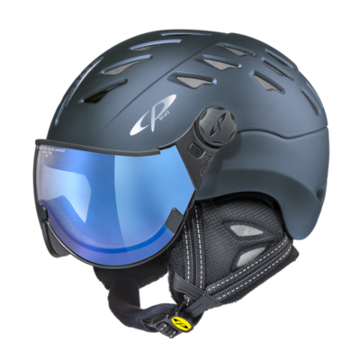 CP Helm mit Visier cuma - blau - Photochrom/Verspiegelt ☁/❄/☀