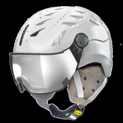 CP Helm mit Visier cuma swarovski elements - weiss - Photochrom/Verspiegelt ☁/❄/☀