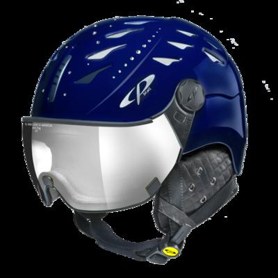 CP Helm mit Visier cuma swarovski elements - blau - Photochrom/Verspiegelt ☁/❄/☀