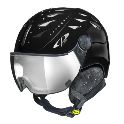 CP Helm mit Visier cuma swarovski elements - zwart - Photochrom/Verspiegelt ☁/❄/☀