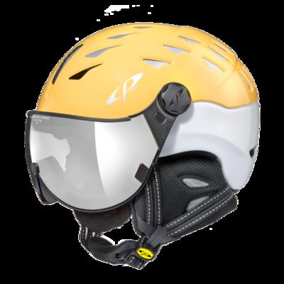 CP Helm mit Visier cuma - geel/weiss - Verspiegelt ☁/❄/☀
