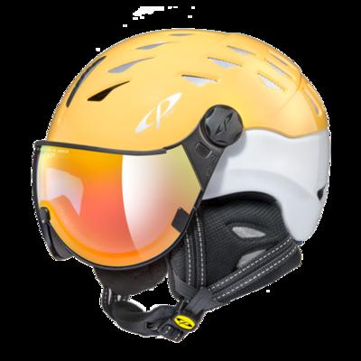 CP Helm mit Visier cuma - geel/weiss - Photochrom/Verspiegelt ☁/❄/☀