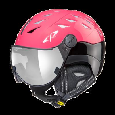 CP Helm mit Visier cuma - roze/zwart - Verspiegelt ☁/❄/☀