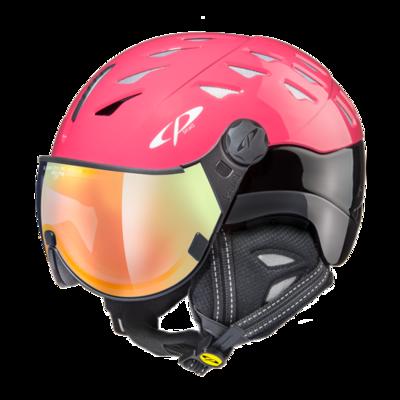 CP Helm mit Visier cuma - roze/zwart - Photochrom/Verspiegelt ☁/❄/☀