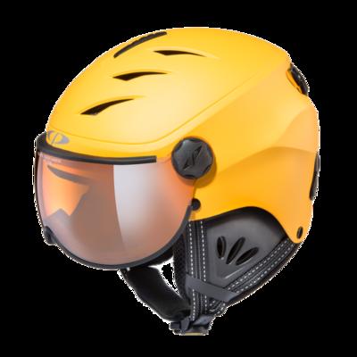 Skihelm mit visier cp camulino - orange silver mirror - ☁/❄/☀ gelb, schwarz