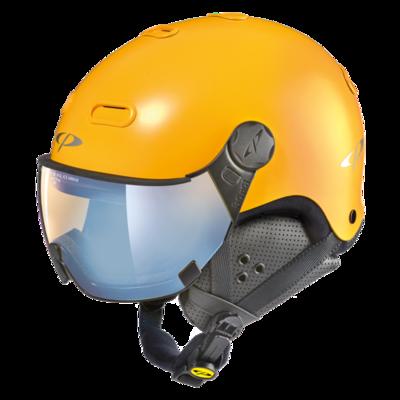 CP Helme mit Visier Carachillo - Gelb - Photochrom Polarisiert Verspiegelt ☁/❄/☀