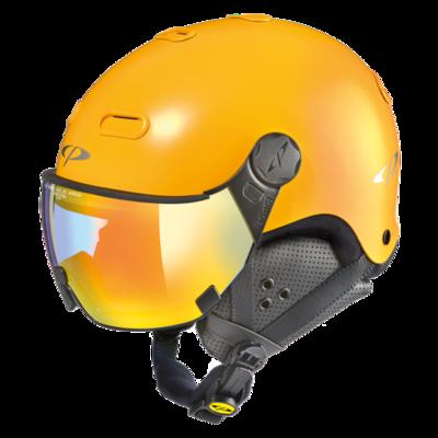 CP Helme mit Visier Carachillo - Gelb - Photochrom Verspiegelt ☁/❄/☀
