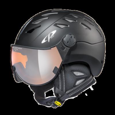 CP Helm mit Visier cuma - schwarz - Verspiegelt ☁/❄/☀