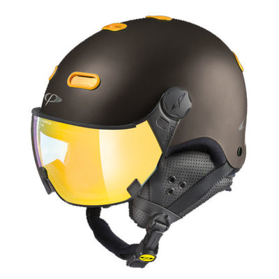 CP Helme mit Visier Carachillo - Braun - Verspiegelt ❄/☁/☀