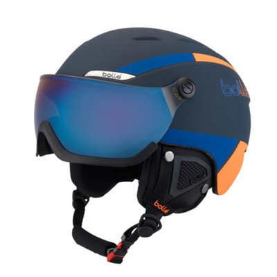 Bollé Helm mit Visier Bollé B-YOND Navy & Orange - ☁/❄/☀
