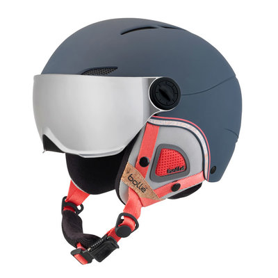 Bollé Helm mit Visier Juliet Visor Navy & Rose - Silver Gun-Lemon - ☁/❄/☀
