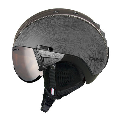 Skihelm Casco SP-2 Vizier - metallic grau - mit carbonic visier