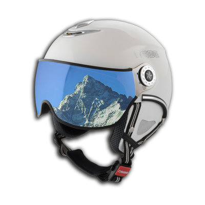 OSBE PROTON SNOW SKIHELM - SHINY WHITE - VISIER CAT. 1-3 (☁/☀/❄)
