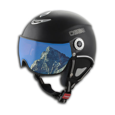 OSBE PROTON SNOW SKIHELM - DULL BLACK - VISIER CAT. 1-3 (☁/☀/❄)