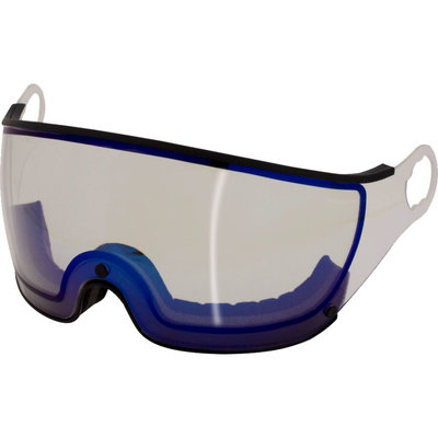 Mango Skihelm Visier Photochrom Flash Blue schwarz (☁/☀/❄) - Für Mango Cusna & Quota Skihelm