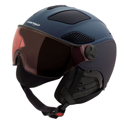 Mango Skihelm quota plus - dark blue mat - Photochrom & polarisiert Visier blau cat. 1 (☁/❄/☀)