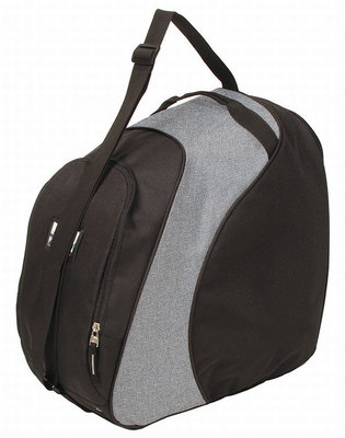 Skischuhe Tasche & Skihelm Tasche in eins schwarz-grau