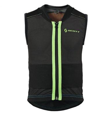 Scott Soft Actifit Jr Vest Protector XS Zwart Groen