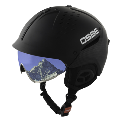 Skihelm Osbe Avenger mit Visier Carbon Look  cat. 2 (☁/❄)