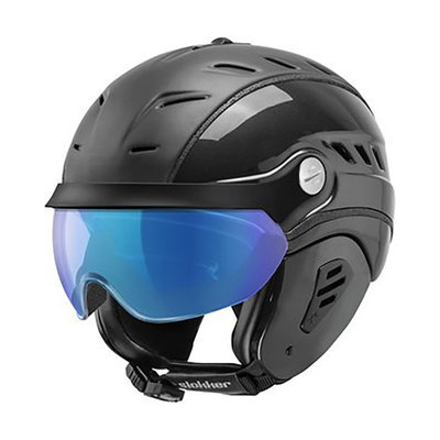 Skihelm Slokker Bakka Multi Layer - schwarz - photochrom Visier  (☁/☀/❄)