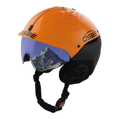 Skihelm Osbe Avenger mit Visier Carbon look Orange cat. 2 (☁/❄)