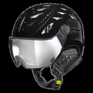 Helm Cuma Swarovski black Silver Mirror