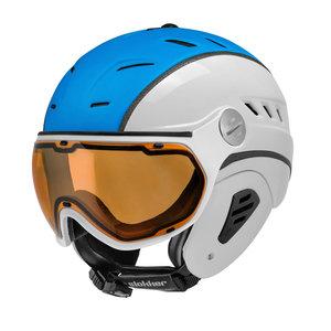 slokker bakka skihelm - slokker skihelm bakka wit blauw blau - weiss