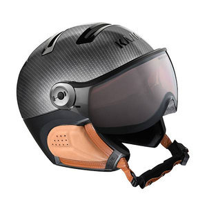kask elite pro carbon brown skihelm met vizier visier