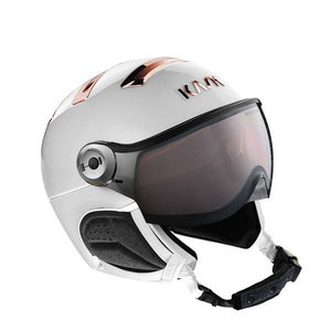kask chrome white pink gold skihelm met vizier photochromic