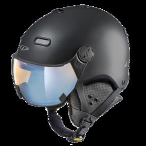 Snowboard helm met Vizier CP Carachillo black s.t. pol ice mirror