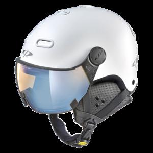 Snowboard helm met Vizier CP CP Carachillo white s.t. / white - dl vario lens br pol ice