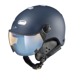 Snowboard helm met Vizier CP Carachillo pol vario - deep blue s.t. / white - dl vario lens br pol ice mirror