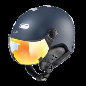 Snowboard helm met Vizier CP Carachillo vario - deep blue s.t. / white - dl vario lens mc mirror