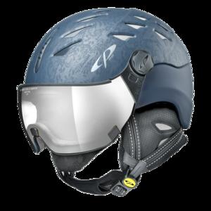 Helm Cuma Cubic Deep Blue Silver Mirror