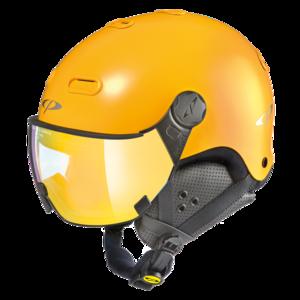 Snowboard helm met Vizier CP Carachillo - maize s.t. / maize - flash gold mirror