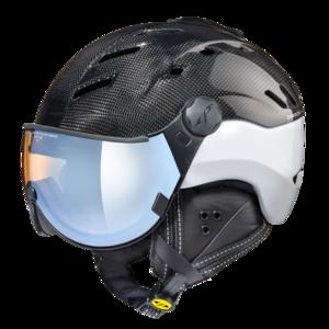 CP camurai  - carbon shiny wit - dl vario lens br pol wh mirror